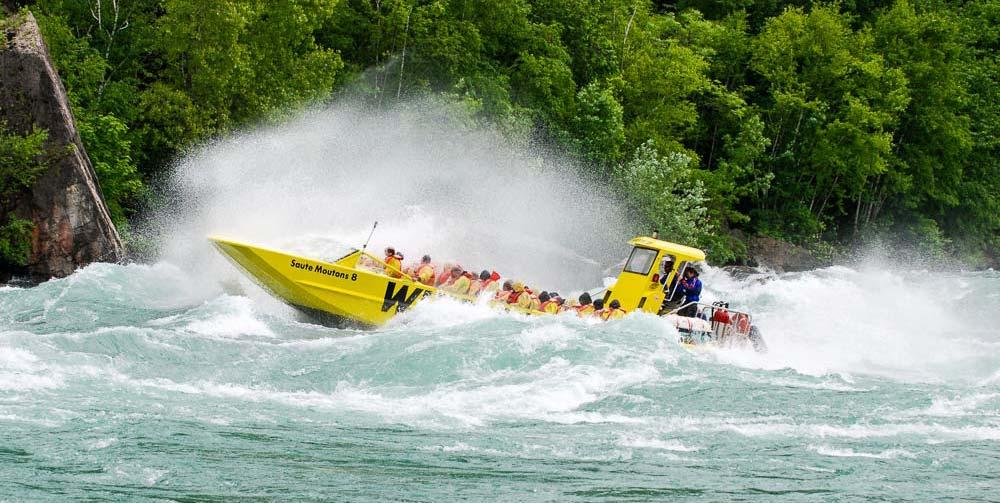 Whirlpool jet boat on the Niagara river Niagara falls jet boat