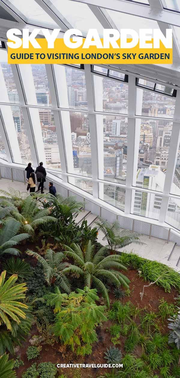Sky Garden London best free views in London