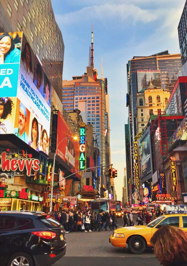Where to eat in Times Square things to do in Times Square