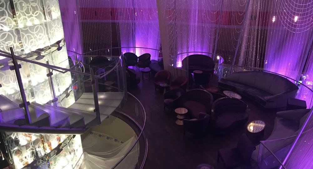 The chandelier bar in The Cosmopolitan