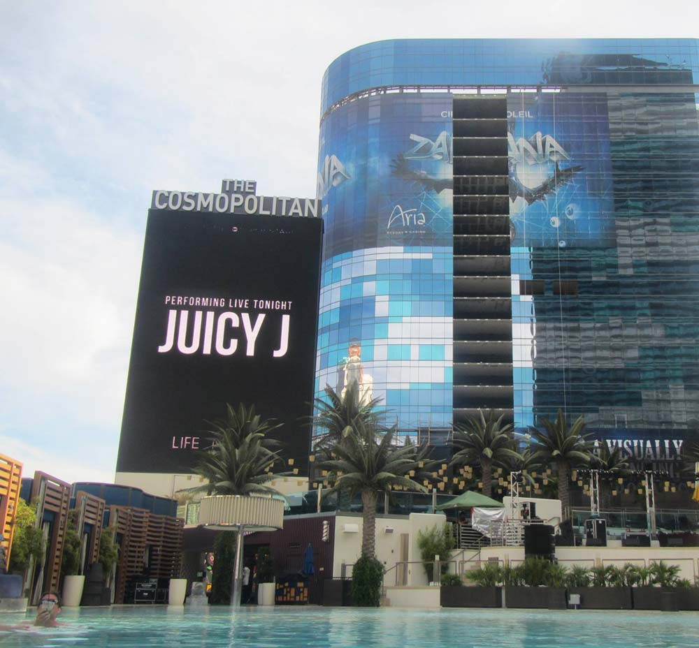The Cosmopolitan Las Vegas from the ground