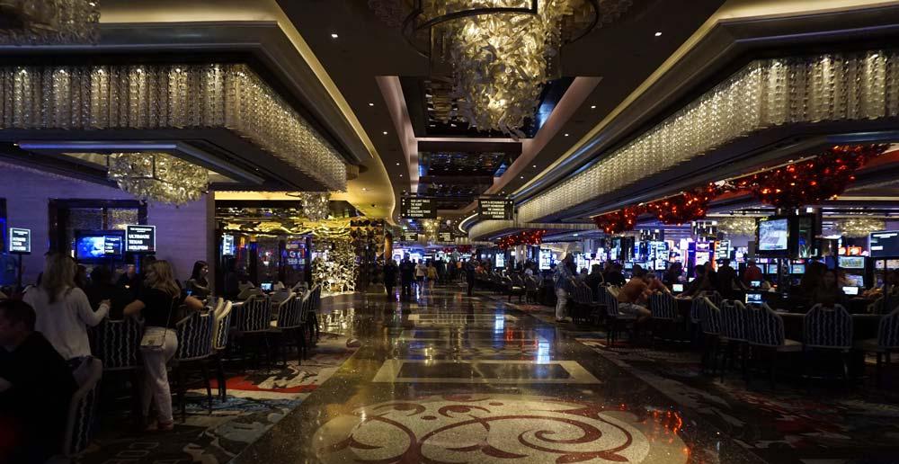 The golden casino in The Cosmopolitan Las Vegas