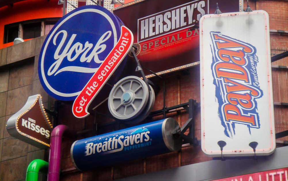 Hersheys store Times Square things to do in Times Square