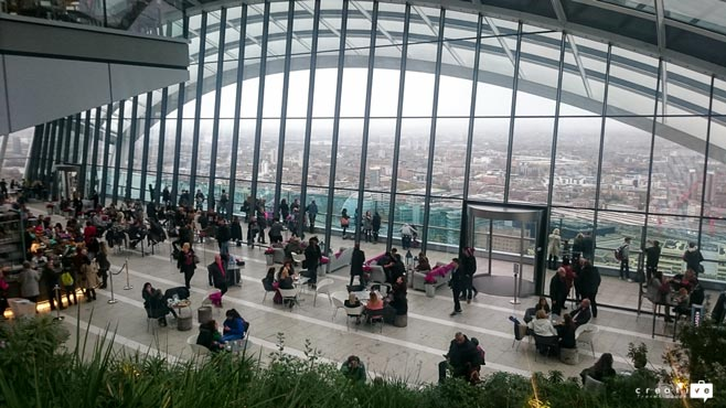 Sky Garden view in London