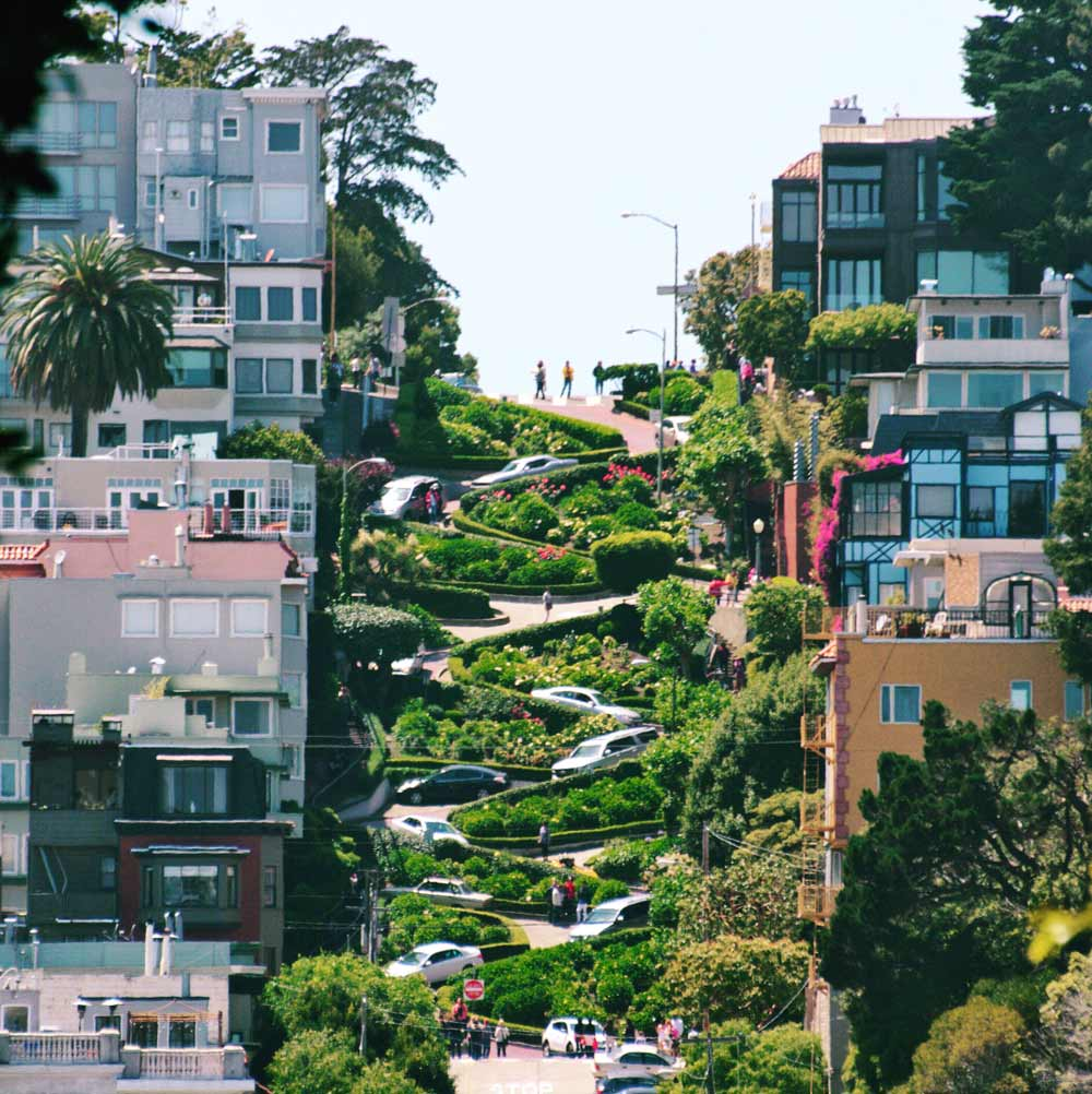 Zig Zag Street in San Francisco