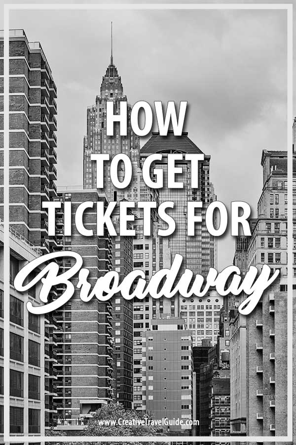 Buying Broadway tickets in New York City