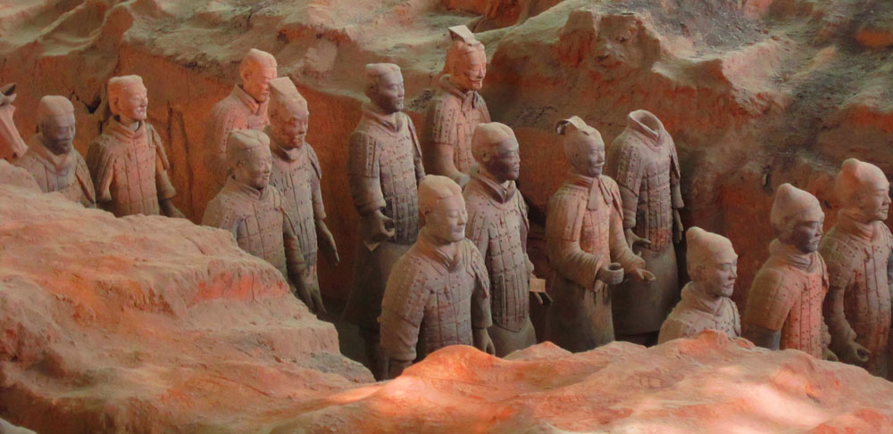 Close up of terracotta warriors Cost of Travel in China