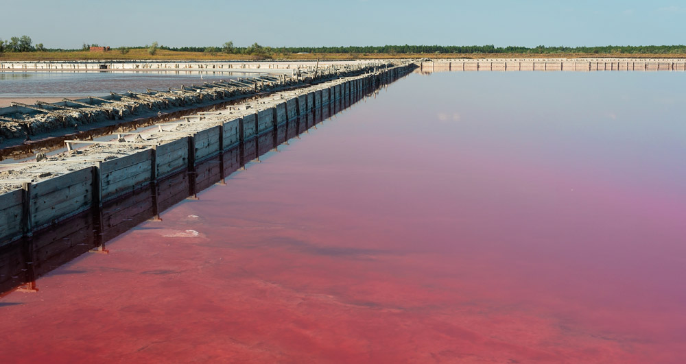 Pink lake in Ukraine Cheap travel country in the world