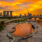 Singapore Sunset from Marina Barrage, Singapore