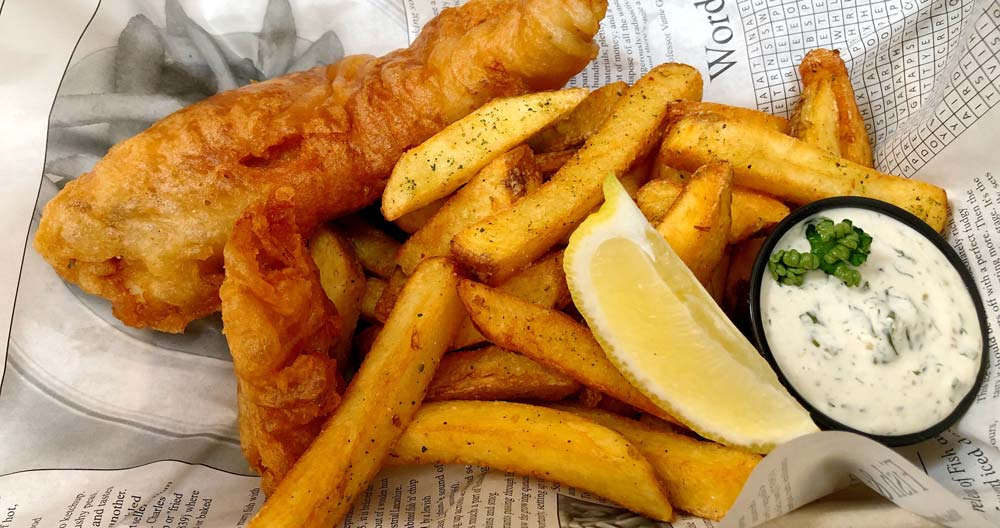 Fish and Chips in England, UK favourite foods around the world