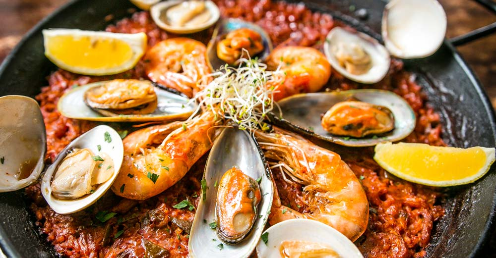 Paella in Spain favourite foods around the world