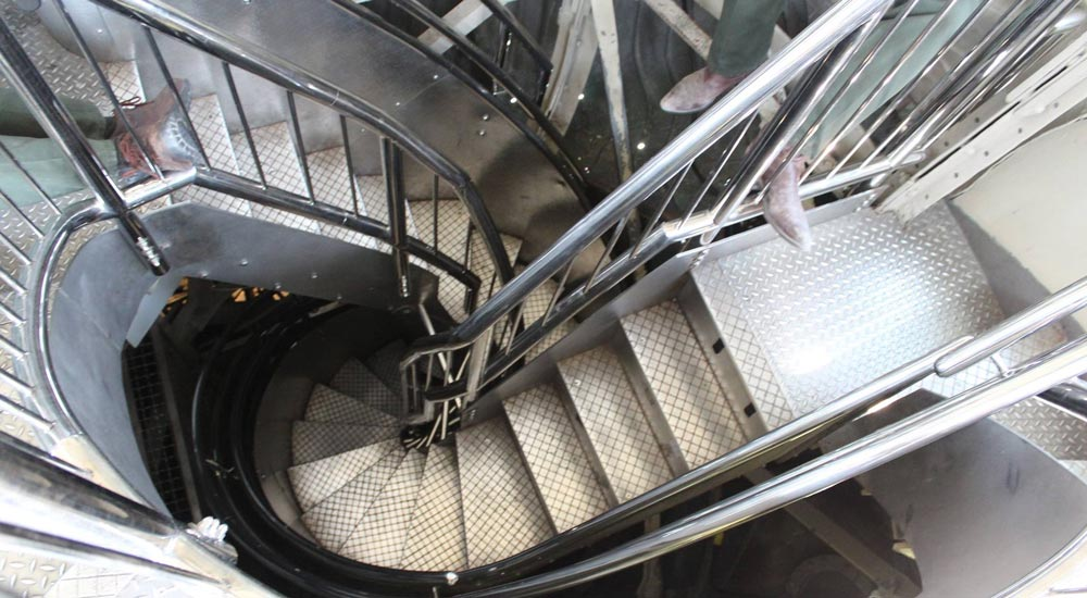 Narrow steps to the Crown of the Statue of Liberty