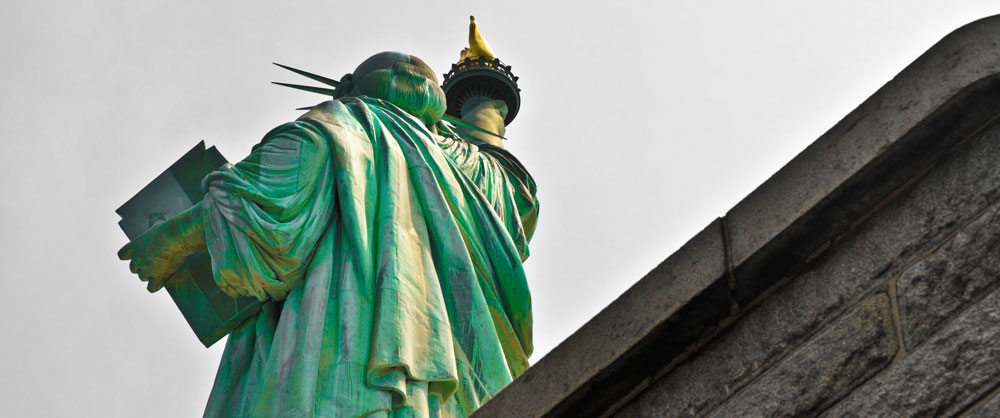 Statue of Liberty Crown from behind