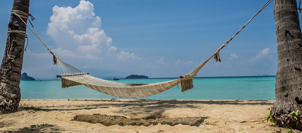 Relaxing beach in thailand
