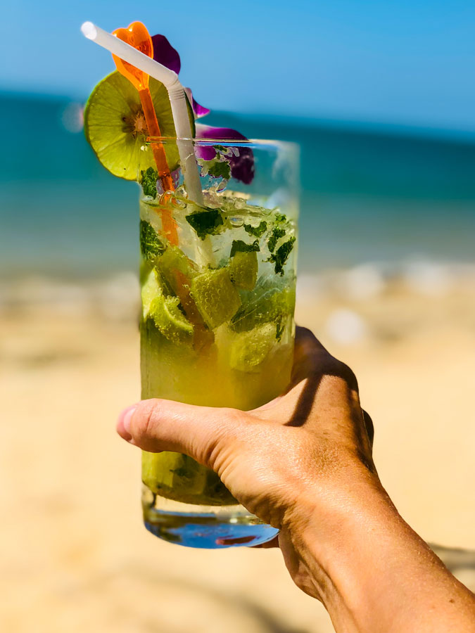 cocktail on the beach in Thailand