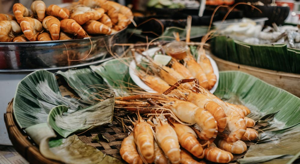 Seafood stall in Thailand