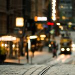 visit a city - blurred shot of Lisbon, Portugal