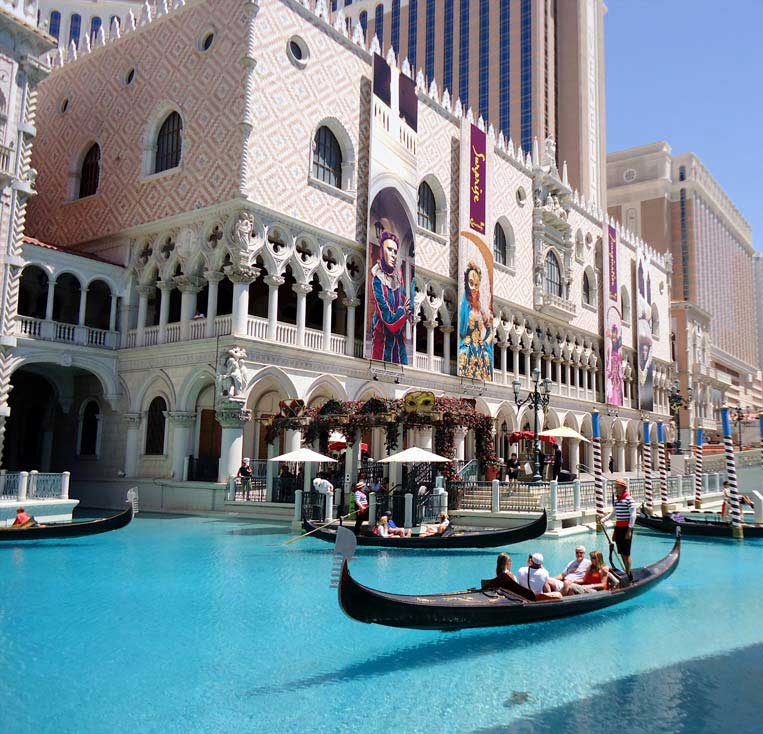 The Venetian hotel on the Las Vegas strip