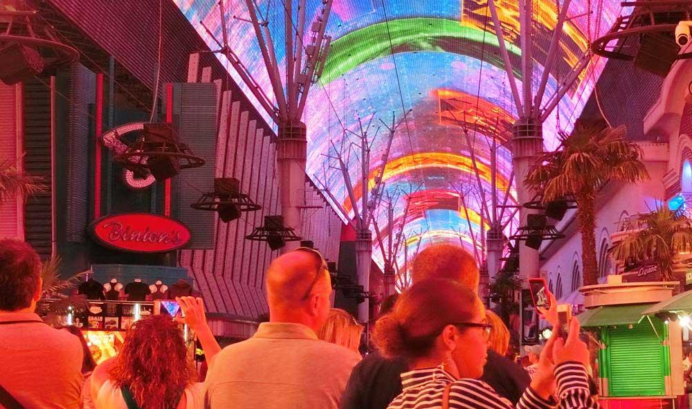Freemont street at night Las Vegas