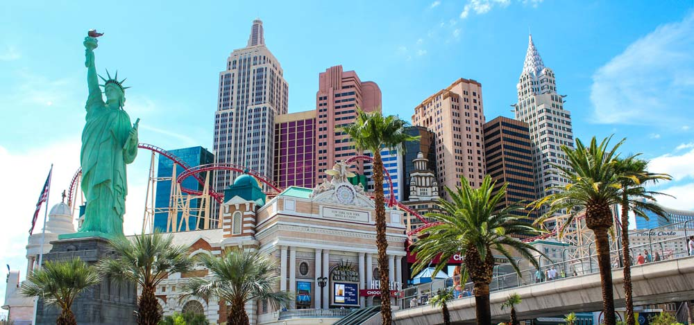 New York New York Hotel and Casino on the Las Vegas strip