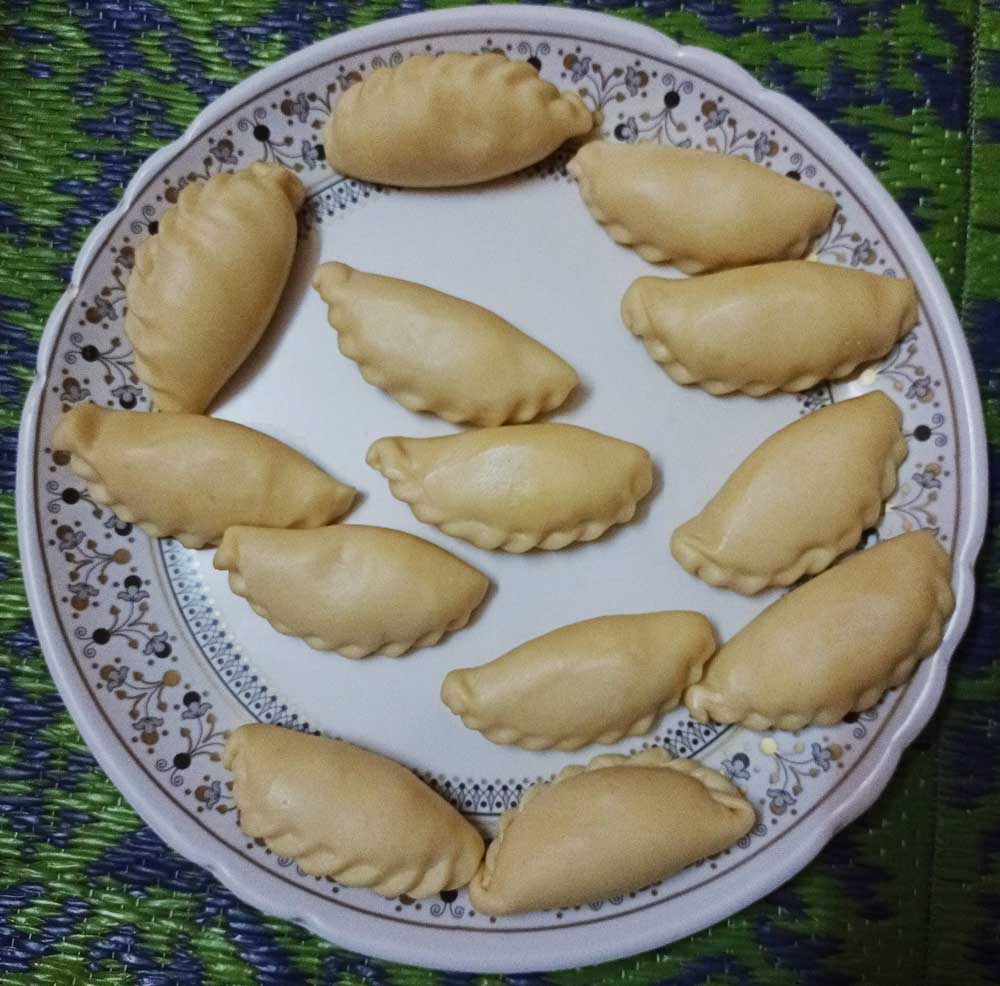 Gujia Rajasthani food