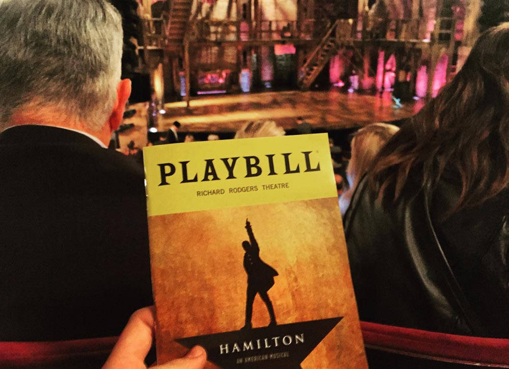 Hamilton Play Bill Broadway Show