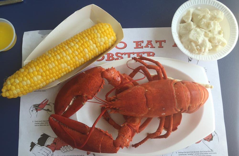 Lobster from Maine must eat in the States