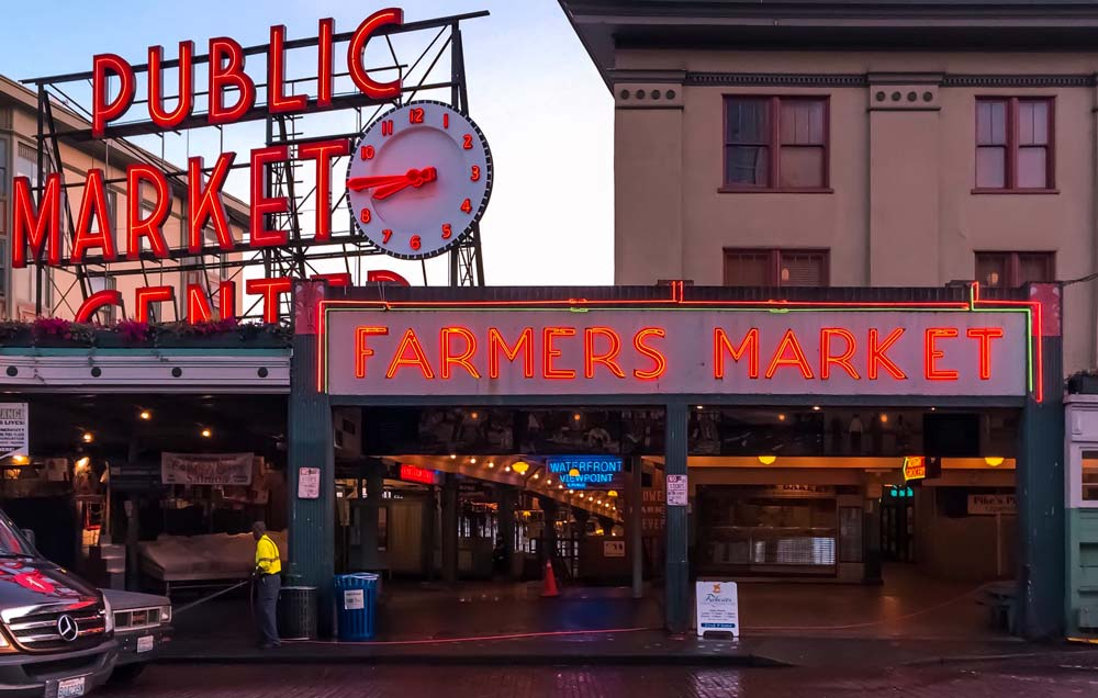 Pike Place market Seattle things to do in the US