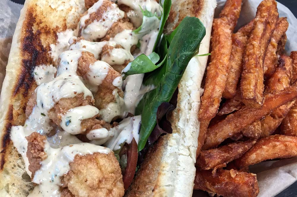 TRY FAMOUS PO'BOY SANDWICH IN NEW ORLEANS
