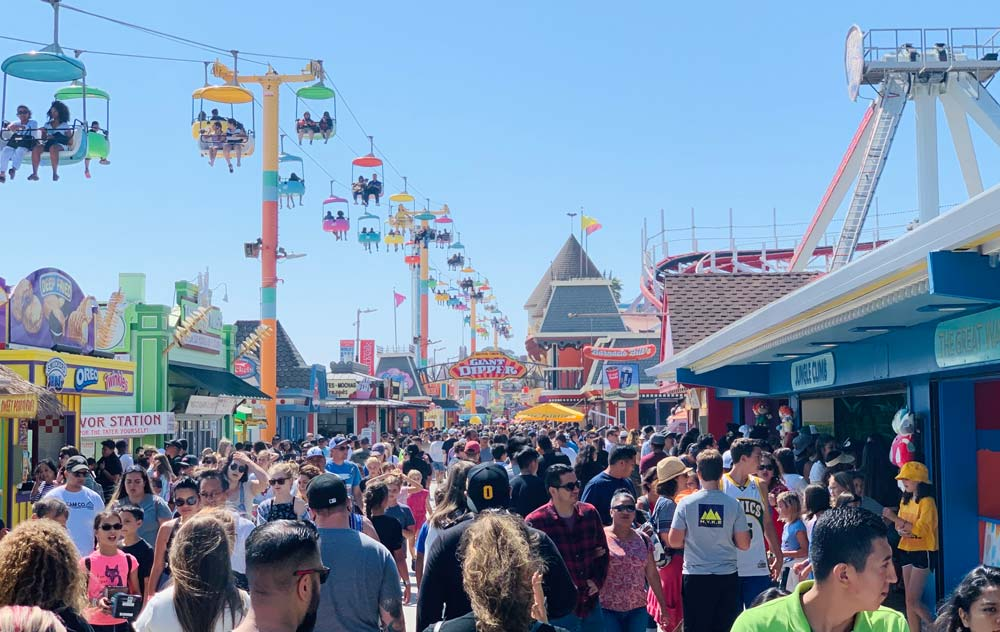 SANTA CRUZ BEACH BOARDWALK USA bucket list