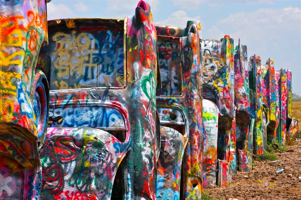 Cadillac Ranch Texas Route 66 USA Bucketlist