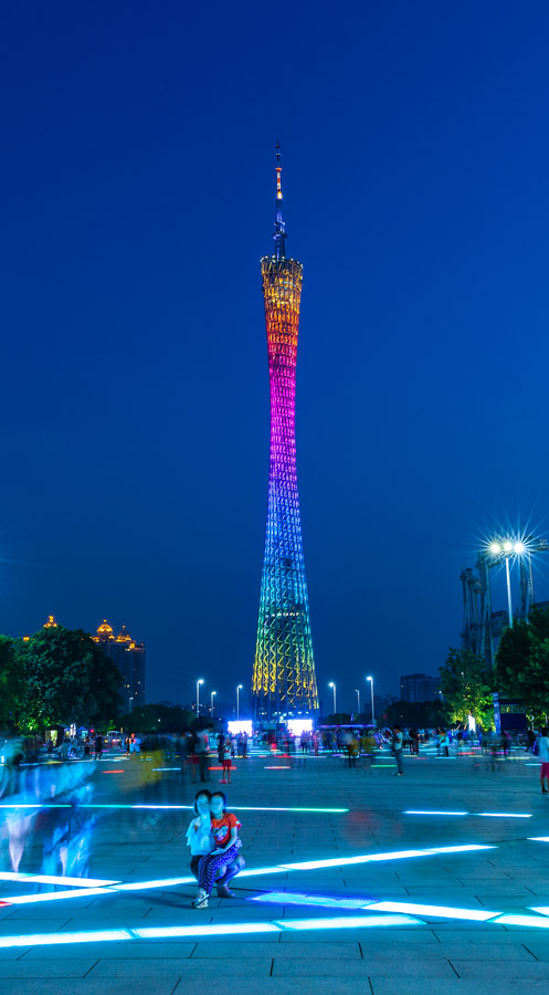 Canton Tower lit up at night Guangzhou Best places to visit in China