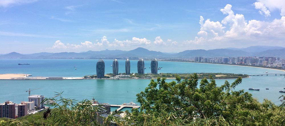 View across Sanya China Hainan best places to visit in China
