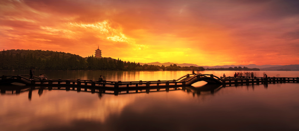 Hangzhou sunset in china best places to visit in China