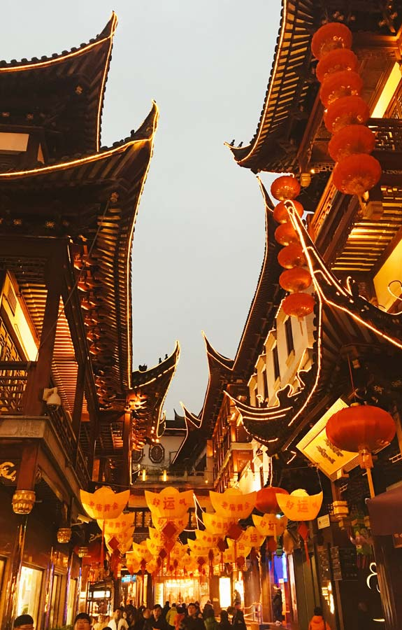 Yu Yuan Gardens Shanghai at night best places to visit in China