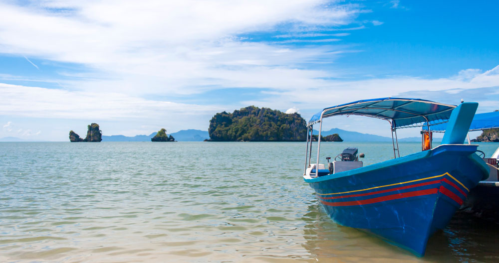 Transport boat in Langkawi