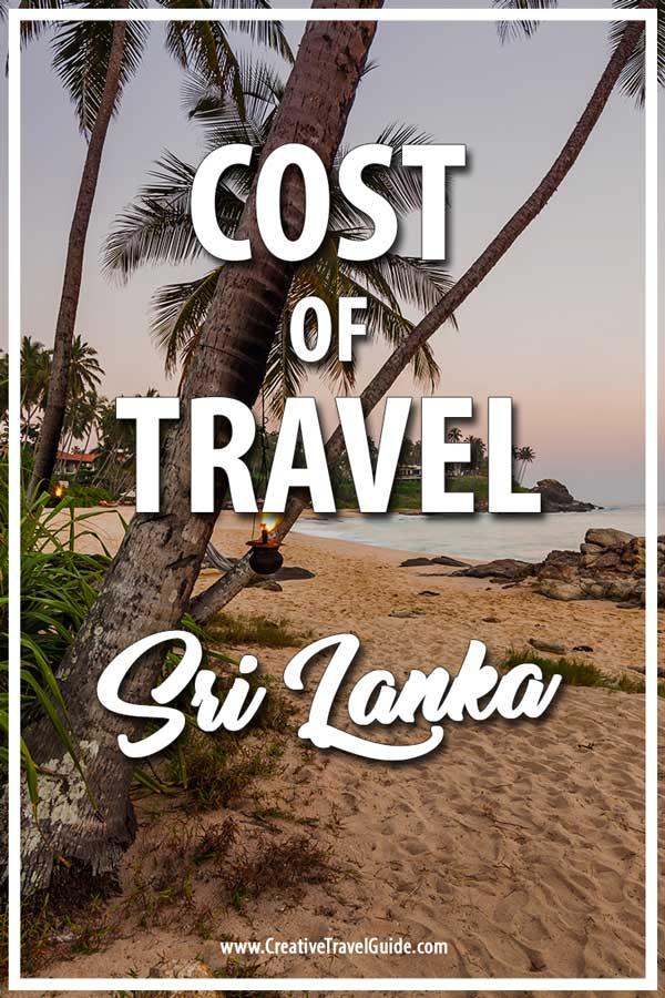 Sri Lanka trip cost