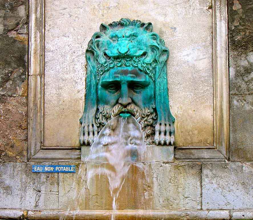 artistic fountain in Rome, Italy