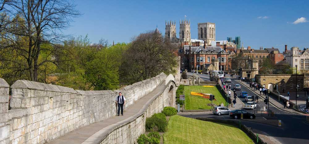 York places to go for a weekend away in england