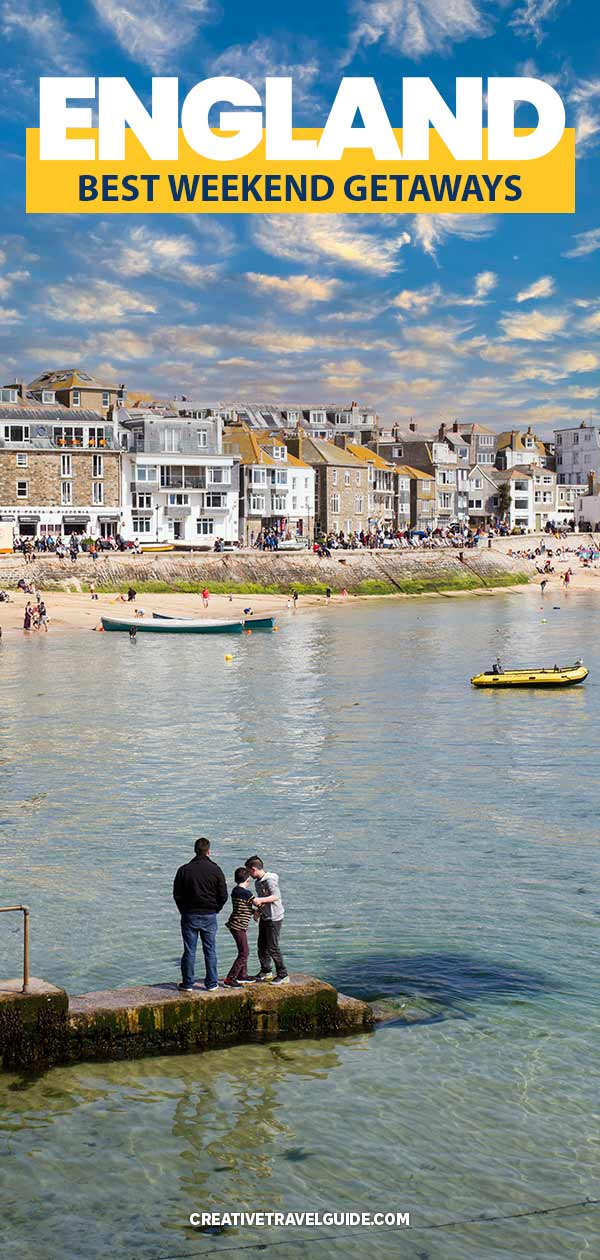places to go for a weekend away in england