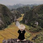 Woman looking at Vietnam countryside 3 weeks in Vietnam