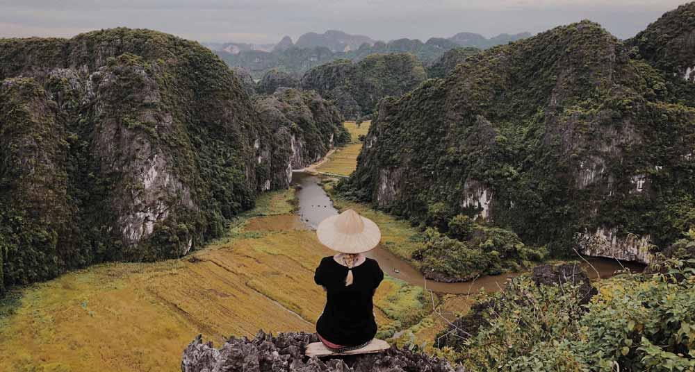 Woman looking at Vietnam countryside 3 weeks in Vietnam