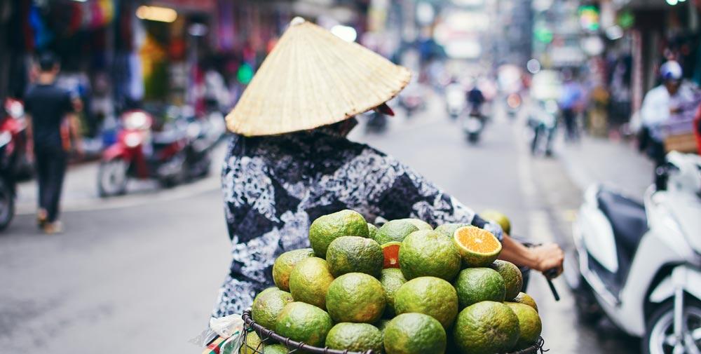 Woman selling mangos in Vietnam 3 weeks in vietnam