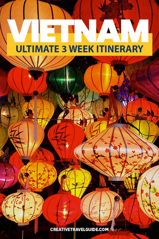 three weeks in Vietnam Itinerary