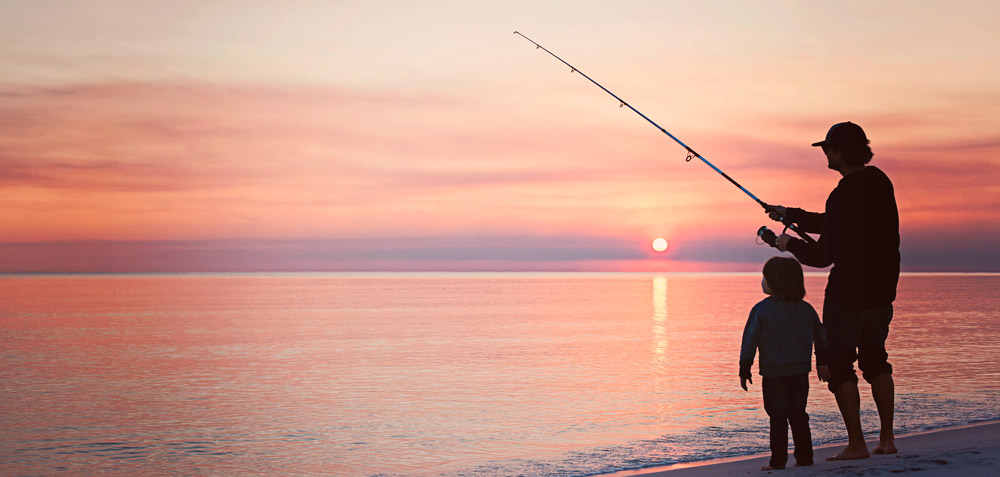 recreational fishing father and son fun outdoor activities