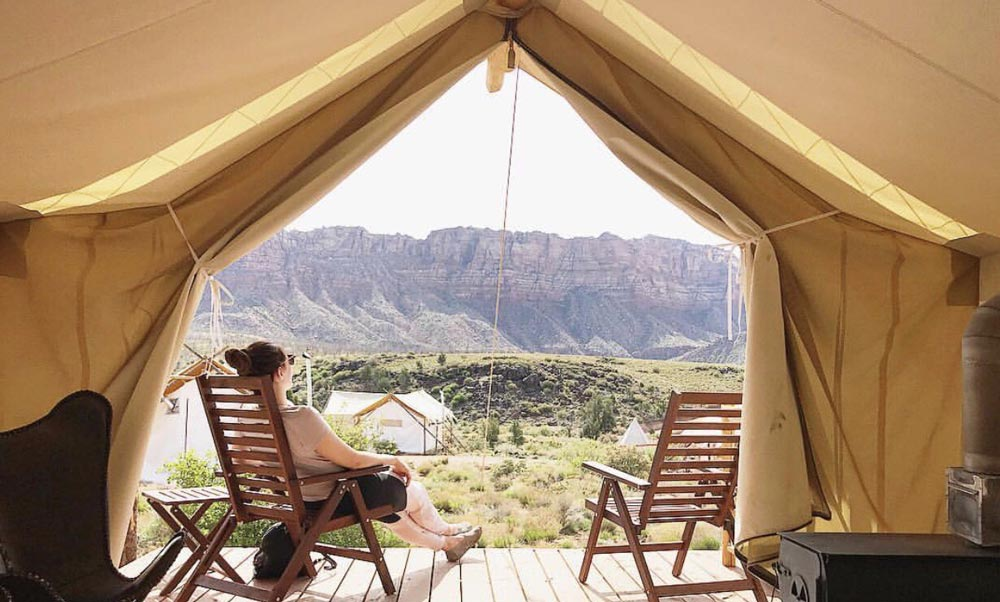 Glamping in a luxury tent fun outdoor activities