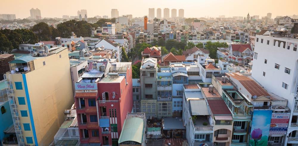 Cityscape of Ho Chi Minh city Choose a destination