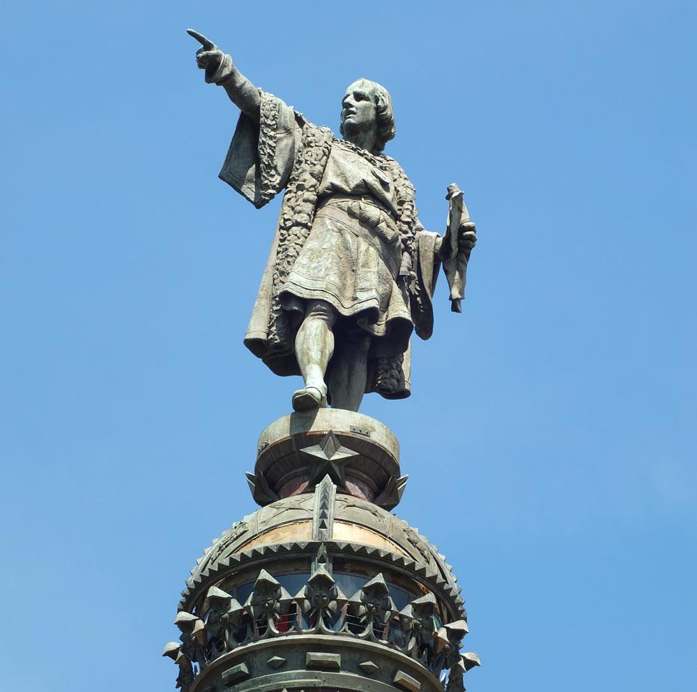 Christopher Columbus monument in barcelona