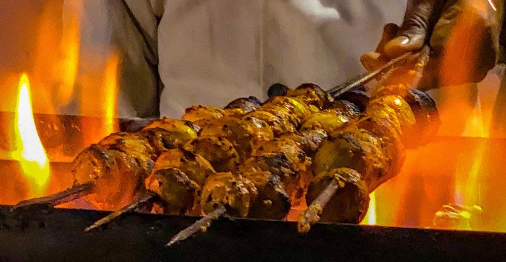 Tandoori chicken in India