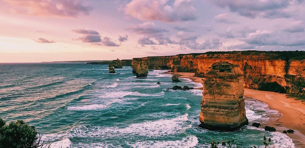 12 apostles at sunset Australia